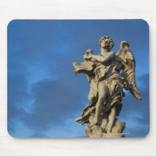 statue of the Angel with superscription on Sant Mouse Mat