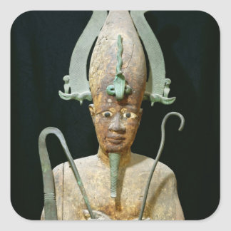 Statue of the Cult of Osiris Square Sticker