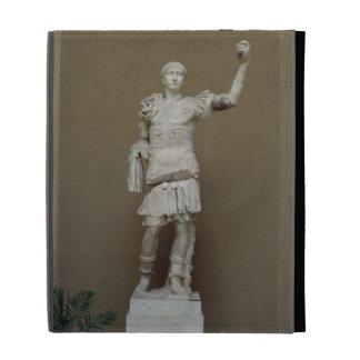 Statue of the Emperor Trajan (53-117 AD) (marble) iPad Folio Cases