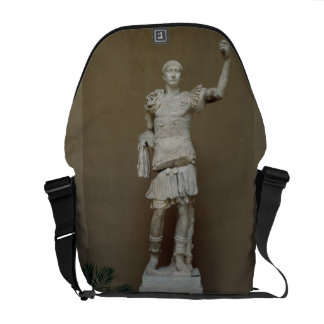 Statue of the Emperor Trajan (53-117 AD) (marble) Messenger Bag