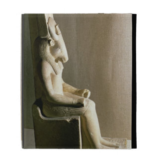 Statue of the god Montu with the head of a bull, f iPad Folio Cover