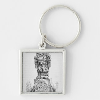 Statue of the Goddess Coatlicue Key Ring