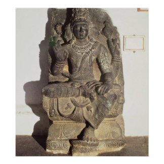 Statue of the Hindu God Brahma Poster