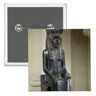 Statue of the lion-headed goddess Sekhmet, from th 15 Cm Square Badge