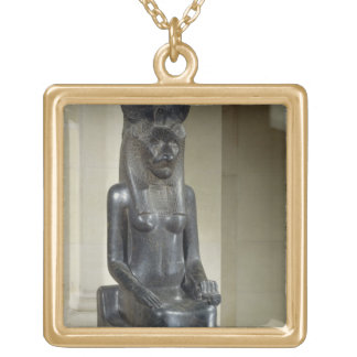 Statue of the lion-headed goddess Sekhmet, from th Square Pendant Necklace