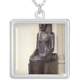 Statue of the lion-headed goddess Sekhmet Silver Plated Necklace