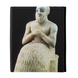 Statue of the official Ebih-Il, from the Temple of iPad Folio Case