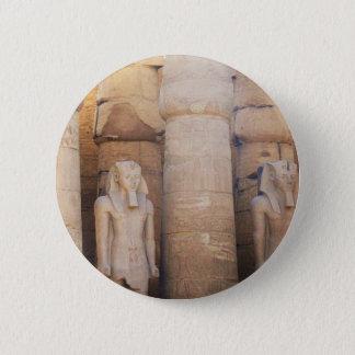 Statue of the Pharaoh Ramses II, Luxor Temple 6 Cm Round Badge