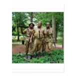 Statue of the Three Servicemen | Vietnam Soldiers Postcard