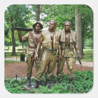 Statue of the Three Servicemen | Vietnam War Square Sticker