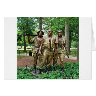 Statue of the Three Servicemen | Vietnam War Vets Stationery Note Card
