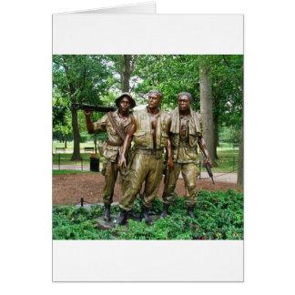 Statue of the Three Servicemen | Vietnam War Vets Greeting Card