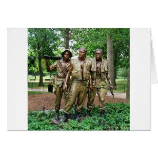 Statue of the Three Servicemen | Vietnam War Vets Note Card