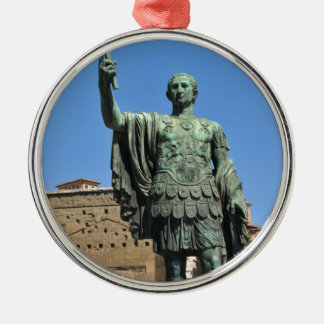 Statue of Trajan in Rome, Italy Silver-Colored Round Decoration