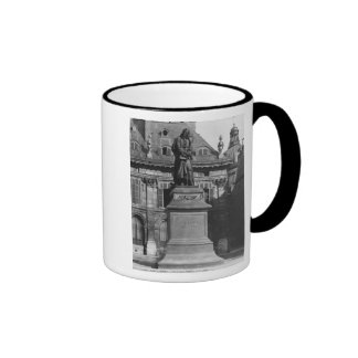 Statue of Voltaire Ringer Mug