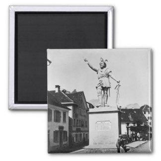 Statue of William Tell, c.1860-90 Square Magnet