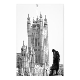 Statue of Winston Churchill in London Stationery