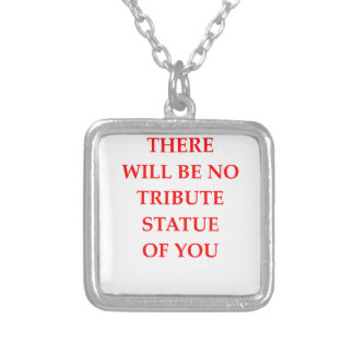 STATUE SILVER PLATED NECKLACE