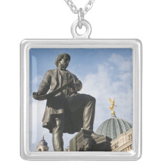 Statue with Glass dome on Kunstverein building Silver Plated Necklace