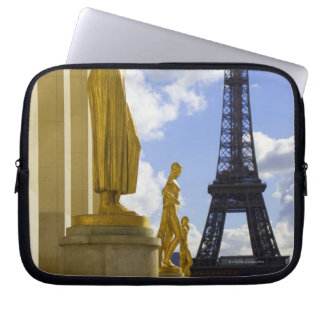 Statues and Eiffel Tower Laptop Sleeve