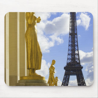 Statues and Eiffel Tower Mouse Pad