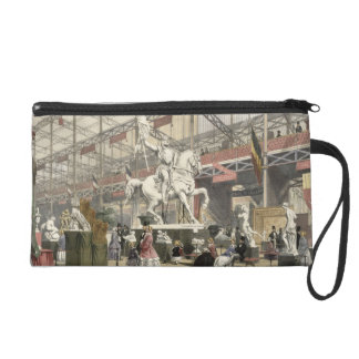 Statues in the Belgium section of the Great Exhibi Wristlet Purse