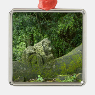 Statues in Ubud Monkey Forest Christmas Ornament