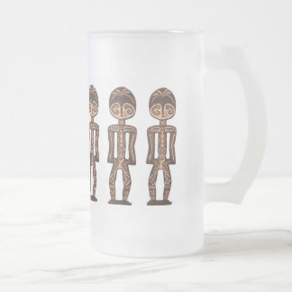 STATUES FROSTED GLASS MUG