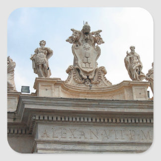 Statues on St Peter's Square in the Vatican City Sticker