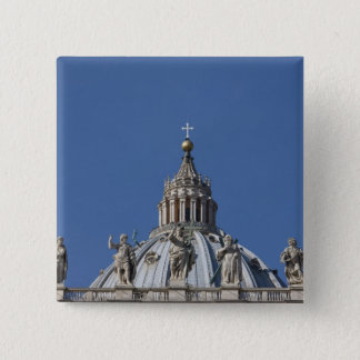 statues on the facade of Saint Peter's basilica 15 Cm Square Badge