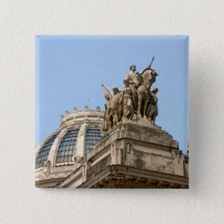 Statues on Tiradentes 15 Cm Square Badge