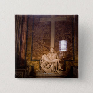 Statues, The Vatican, Rome, Italy 15 Cm Square Badge