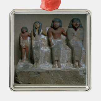Statuette of a family group (pigment on chalk) christmas ornament