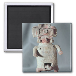 Statuette of a woman giving birth square magnet