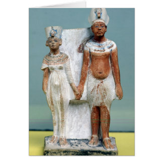 Statuette of Amenophis IV  and Nefertiti Card