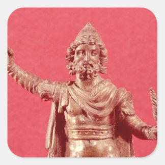 Statuette of Jupiter Dolichenus Square Sticker