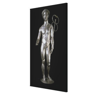 Statuette of Mercury, 2nd-3rd century BC (silver) Stretched Canvas Prints
