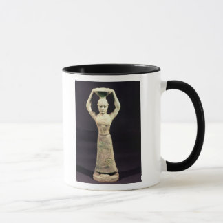 Statuette of offering bearer with votive mug