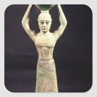 Statuette of offering bearer with votive square sticker