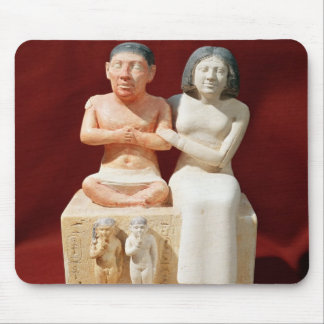 Statuette of the dwarf Seneb and his family Mouse Pad