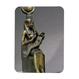 Statuette of the goddess Isis and the child Horus Magnet