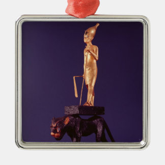 Statuette of the king upon a leopard christmas ornament
