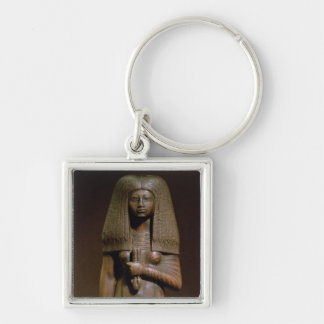 Statuette of the Tuya, head of the harem of Min, N Silver-Colored Square Key Ring
