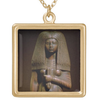 Statuette of the Tuya, head of the harem of Min, N Square Pendant Necklace