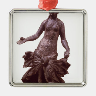 Statuette of Venus, late 1st or 2nd century AD Silver-Colored Square Decoration