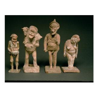 Statuettes of Actors and Actresses, Hellenistic, c Postcard