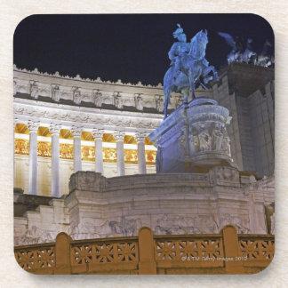 Staue and columns at the monument Vittorio Coaster