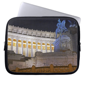 Staue and columns at the monument Vittorio Laptop Sleeve