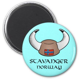 Stavanger Norway Viking Hat 6 Cm Round Magnet