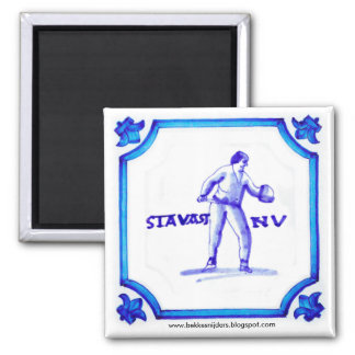 Stavast Bekkesnijder Dutch Blue Tile Magnet